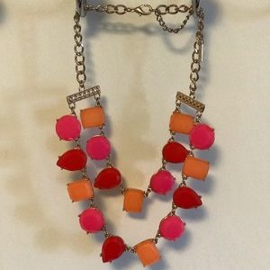 Colorful 2 Tier Gem Necklace